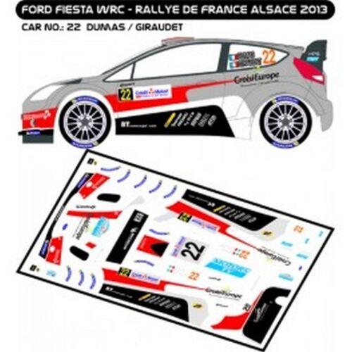 DUMAS MF-ZONE D43256 DECALS 1//43 FORD FIESTA WRC #22 RALLYE DE FRANCE 2013