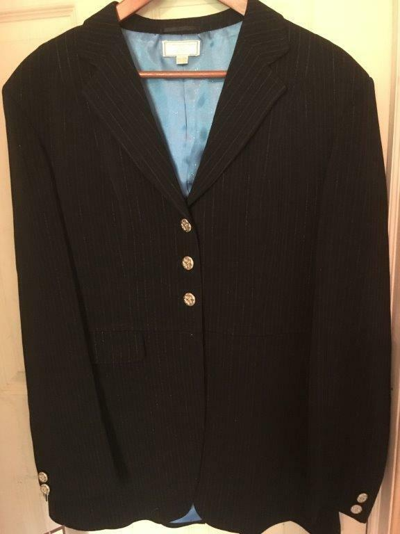 WELLINGTON Collection Dressage COAT Ladies 42  Bust NAVY Pinstripe
