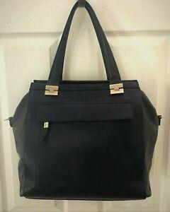 RIPANI-039-Sole-039-Satchel-Shoulder-Bag-Soft-Black-Dark-Gray-Italian-Leather-XLNTCond