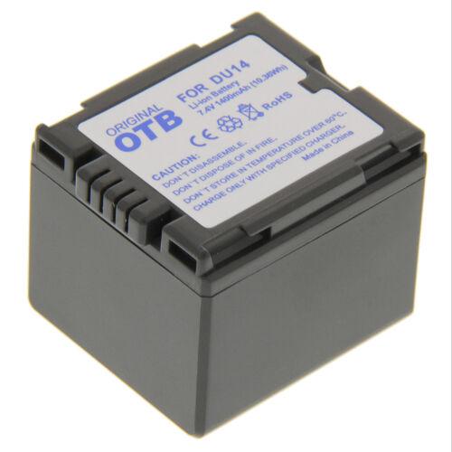 BATERIA para Panasonic cgr-du06 cga-du14 cga-du21 vbd140