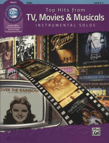Movies /& Musicals Violin Sheet Music Book /& CD Instrumental Top Hits from TV