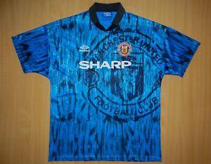 sale Manchester United 1992 away shirt jersey camiseta football 92 1993 soccer