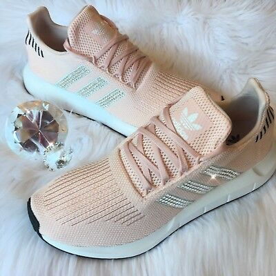 Bling Adidas Swift Run Women S Shoes W Swarovski Crystals Icey Pink Bedazzled Ebay