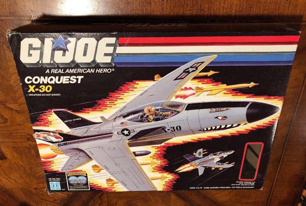 VINTAGE G.I.JOE Conquest x-30 SLIP STREAM 1986 COMPLETE WITH BOX GIJOE ARAH