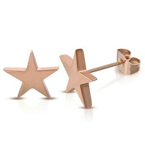 Image Is Loading 316l Surgical Stainless Steel Rose Gold Plated Star
