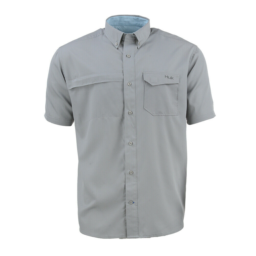 Huk Men's Tide Point Woven Solid  Ss, color  Grey H1500044-020  new products novelty items