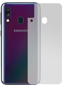 Slabo-Ruckseite-Schutzfolie-fur-Samsung-Galaxy-A40-4er-Set-MATT-034-No-Reflexion-034