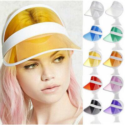 Visor Retro Cap Sonnenmütze Schirmmütze Durchsichtig Plastik Blende Mütze Cappy