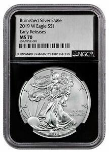 2019-W-1-oz-Burnished-Silver-Eagle-NGC-MS70-ER-Black-Silver-Foil-Label-SKU55846