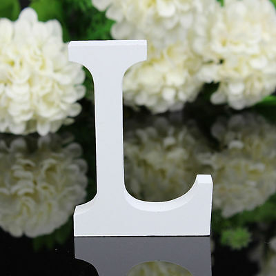 Wood Wooden White Letter Alphabet Letter  Birthday Wedding Fashion Decorations