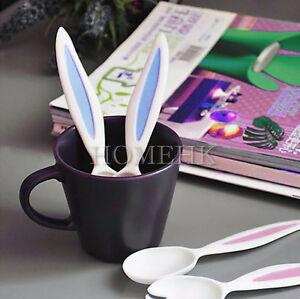 Spoon Fork Set Rabbit baby kid children toddler kitchen food dine cute tableware
