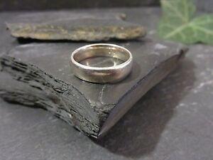 Schoene-925-Silber-Ring-Schlicht-Unisex-Damen-Herren-Klassisch-Vintage-Edel
