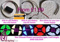 Dolls Houses Led Strip Lights 5050 Kits With 9v Pp3 Battery Box Plus Pp3 9v Batt