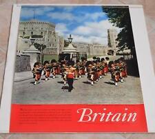 VINTAGE WINDSOR CASTLE BERKSHIRE BRITAIN ENGLAND TRAVEL TOURIST POSTER 1959