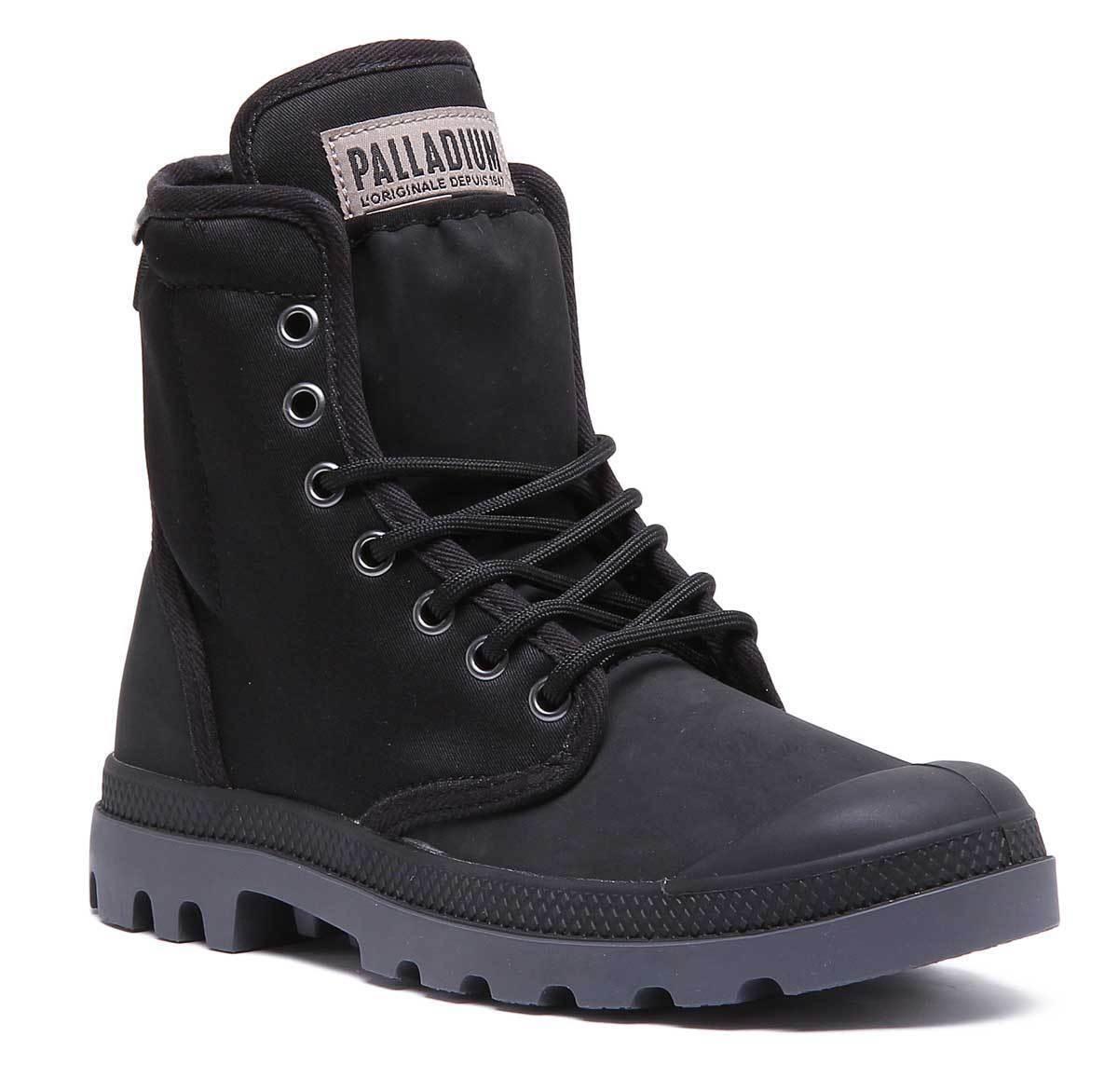 Palladium Pampa Solid Ranger Womens Synthetic Black Hiking Boots UK Size 3 - 8
