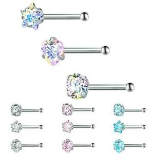 3Pcs-Set-Crystal-Nose-Ring-Bone-Stud-Stainless-Steel-Body-Piercing-Jewelry-Gifts