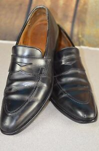 df72918ab0c Crockett   Jones Men s Sydney Penny Loafers Size 9.5 Career Black ...