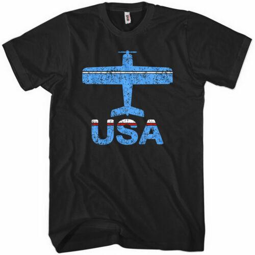 Fly USA T-shirt Concord Regional Airport North Carolina JQF Men Kids XS-4XL