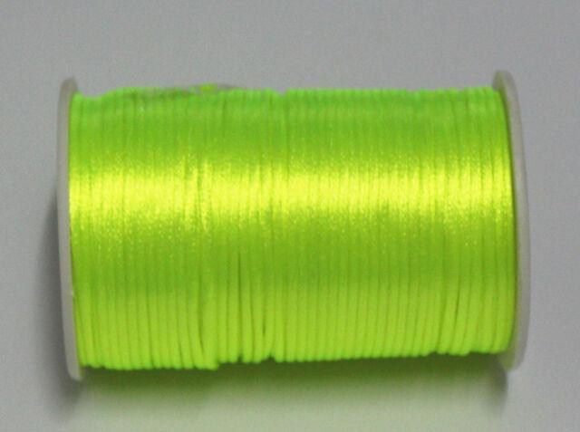 5yd/100yd Satin Rattail Cord 2mm nylon jewelry macrame kumihimo beads DIY