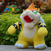 "Super Mario Bros Plush Toy Bowser Koopa 10"" Nintendo Game Stuffed Animal Doll"