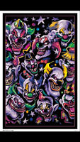 Blacklight Clown Poster Smile Now Cry Later Awesome Black Light Brand