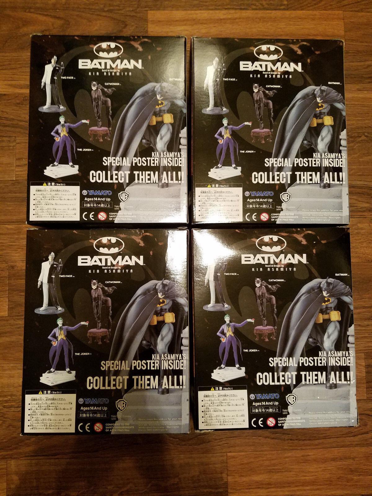 NEW DC Batman Catwoman Two Face Joker Joker Joker Kia Asamiya figure set Yamato Wave 1 b1c61d