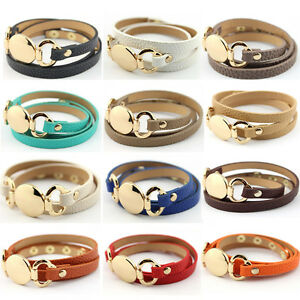 Image Is Loading Trendy Disk Multiple Wrap Leather Bracelet 2018 Monogram