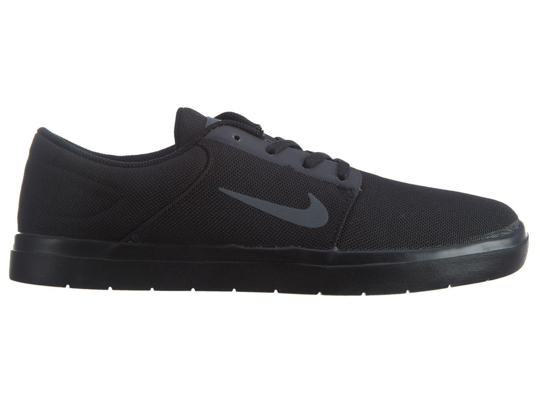 Nike SB Portmore Ultralight Canvas Mens 844445-001 Black Skate Shoes Size 9
