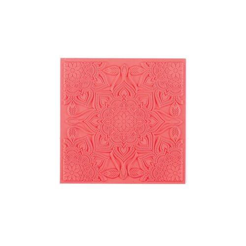 Neuf Plaque de texture pour pâte polymère Boho Chic 9cm