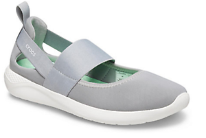 CROCS-LITE-RIDE-MARY-JANE-Light-Grey-White-WOMENS-TRAINERS
