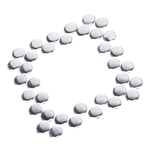 50pcs Silver Round Hotfix Nailheads Hot Fix Iron-on Beads 7mm for DIY Crafts New