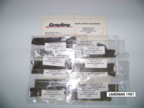 GRAYLING BOHNING ARROW BOLT FLETCHING JIG RELEASE TAPE 8 PIECES 2//4 PACK AAE
