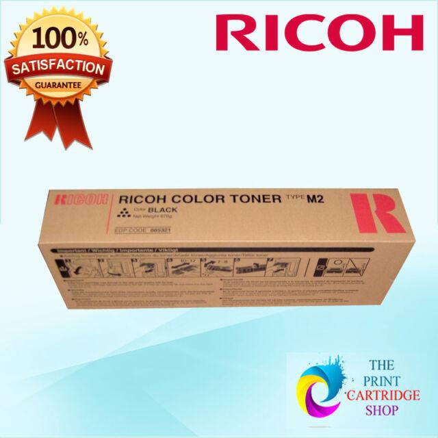New & Original Ricoh 885321 Type M2 Black Toner Aficio 1224 1224C 1232 1232C