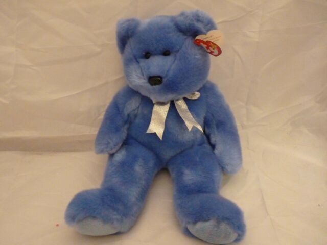 LARGE 1999 Ty Original Beanie Babies CLUBBY II The Blue Official Club Bear  (14