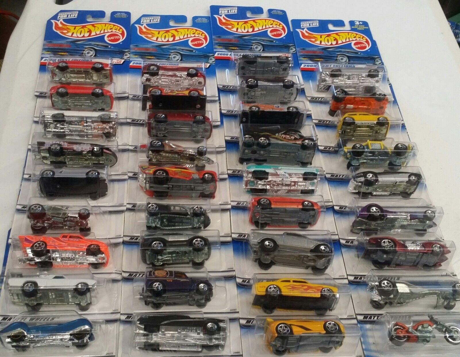 2000 First Edition Hot Wheels Set 36+6 Variations 4,18,22,28,30,&36&Bonus Car15