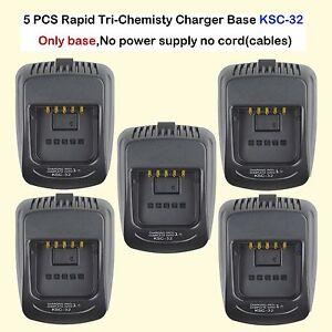 5x Rapid Charger Base KSC-32 For Kenwood TK5310GK5 TK5310GK6 Portable Radio