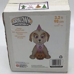 Paw-Patrol-Halloween-Airblown-Inflatable-Gemmy-Skye-With-Pumpkin-3-2-Feet-Rare