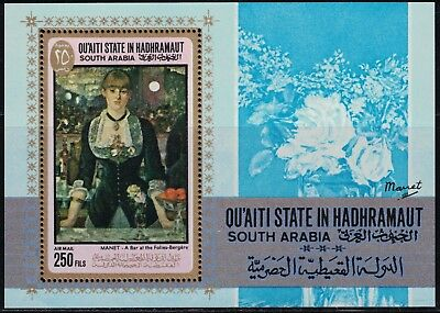 Topical Stamps Art 1834-1917thedancingclass Mnh Ingenious Southarabia Lovely Painting Souv.sht.byedgardegas