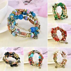 Boho-Woman-Fashion-Bracelets-Bangles-Jewelry-Beads-Multilayer-Beach-Wristband