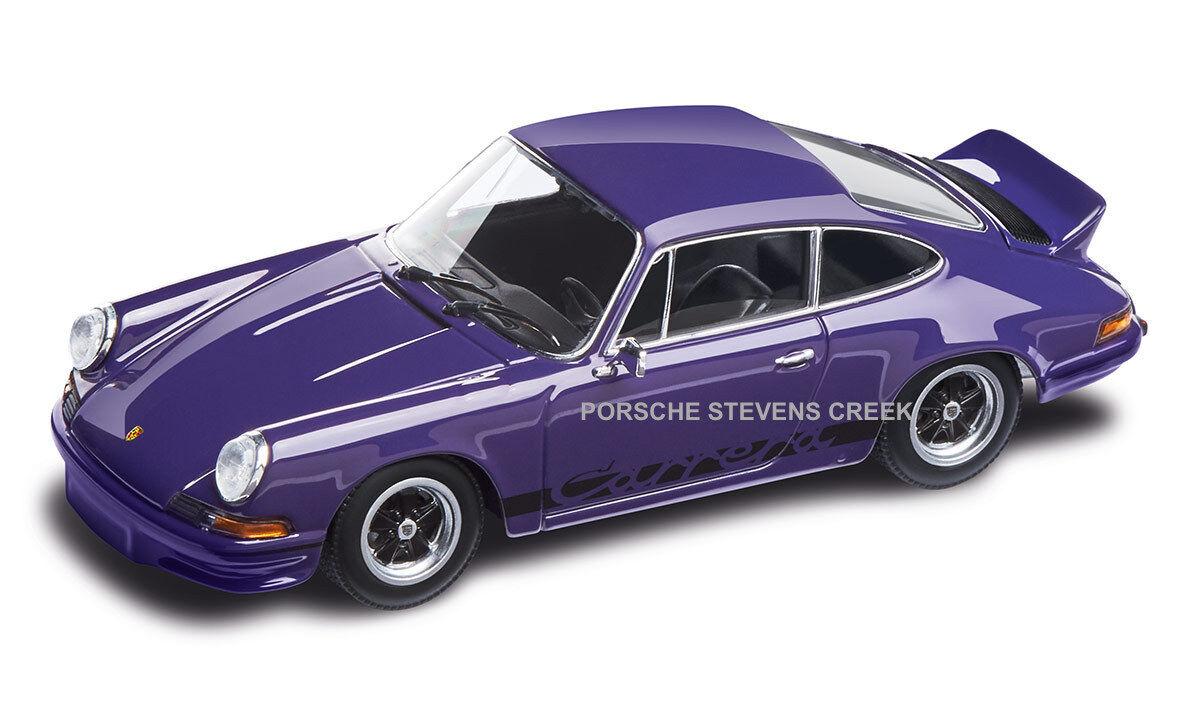 PORSCHE 911 RS 2.7 DIECAST MODEL 1 43 SCALE violets avec Intérieur Noir Voiture Modèle