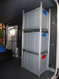alu regal f r wohnmobil heckgarage garage incl boxen systemregal regalsystem ebay. Black Bedroom Furniture Sets. Home Design Ideas