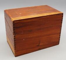 Vintage Wood Recipe Index Card File Box for 3x5 Cards