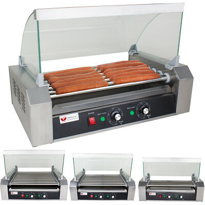 Hot Dog Maker Hot Dog Grill Gerät Hotdog Rollen Grill Edelstahl 5 Rollen 1000 W