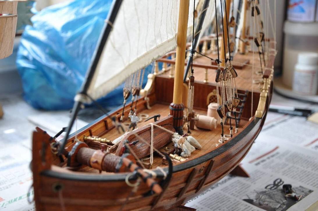 Escala 1   50 Nina Cristóbal Colón modelo del barco