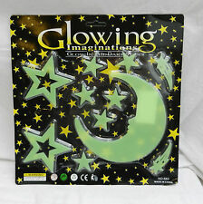 Glowing Imaginations - Glow in the Dark Stickers - Night Sky - Stars & Moon Pack