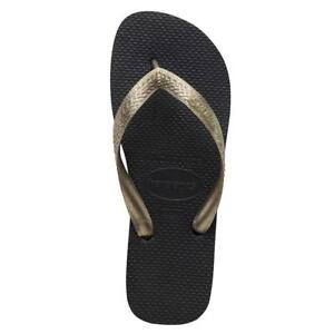 85e16bfad88b Image is loading Havaianas-Top-Tiras-Sandals-Black-Golden-Havaianas-Sandals-
