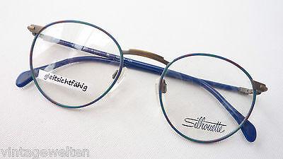 Amichevole Blu-verde Pantobrille Telaio Di Silhouette Occhiali Di Marca Stile Classica Misura M-mostra Il Titolo Originale