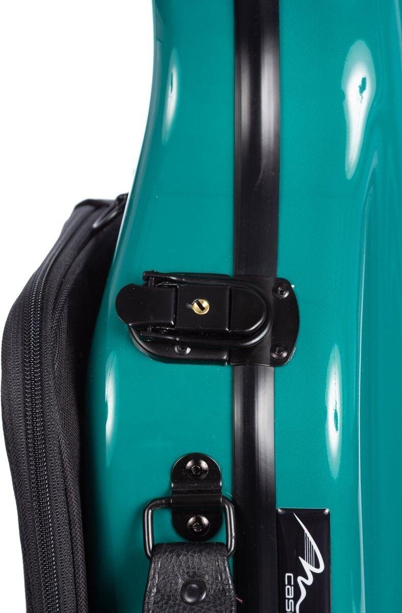 Violin Case de fibra de vidrio en forma de Reino Reino Reino Unido Ultraliviano 4 4 M-caso verde Mar e863f6
