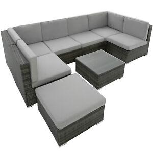 Charmant Das Bild Wird Geladen Poly Rattan Sitzgarnitur Gartenmoebel  Sitzgruppe Lounge Set 6