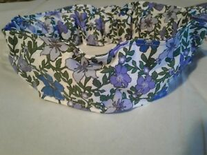 Dog-Collar-Cover-Scrunchie-Spring-Summer-Purple-Blue-Floral-xS-S-M-L